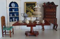 Vintage Tynietoy Doll House Miniature Victorian Drop Leaf Dining Table 1920/30s