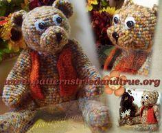 Jointed Teddy Bear, Crochet Pattern DIY Scrapbooked Digital Instant Download PDF File