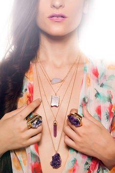 BRAZIL amethyst druzy necklace by keijewelry on Etsy