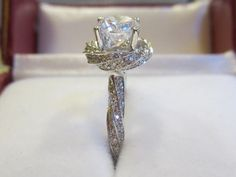 Engagement Ring Forever Brilliant Moissanite by DKBJewelryDesigns