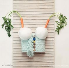 brrrrrassiere (fun art bra with snowballs and carrots)