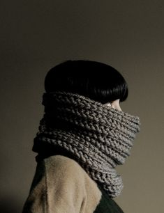 Neck warmer in taupe...need on like this for winter...jx