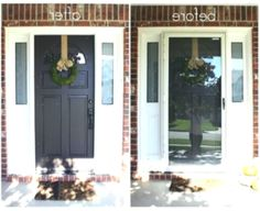 just say no to storm doors - tutorial - Best Door ideas Just Say No, Main Door, In The Heights, Improve Yourself, Beauty, Simple, Mudroom, Beauty Illustration, Front Gates