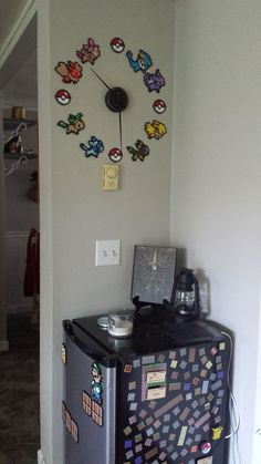 Pokemon Bead Art Wall Clock - Video Game Room via Reddit user YouCanCallMeBoo: