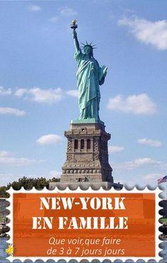 Guide pour visiter New-york en 3, 4 5 ou 7 jours en famille: idées de visite, programme, infos pratiques #NewYork #VoyageEnFamille