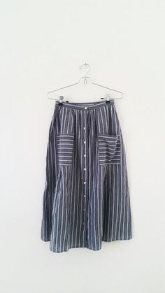 striped summer skirt
