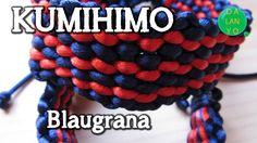 Pulsera Barça   Kumihimo  Tutorial  DIY  Fácil