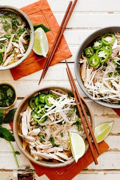 Bun Ga Nuong (Chicken and Vermicelli) Recipe - NYT Cooking Turkey Recipes, Soup Recipes, Cooking Recipes, Turkey Dishes, Cooking Videos, Asian Recipes, Healthy Recipes, Ethnic Recipes, Asian Foods