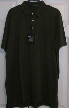 RLX Ralph Lauren Men's Golf Shirt, XL, DK. Green, Solid,  New With Tags #RalphLauren
