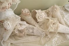 little lace cones #shabbychic