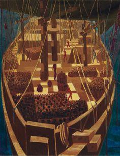 Candido Portinari, Navio negreiro, 1950. Oil on canva