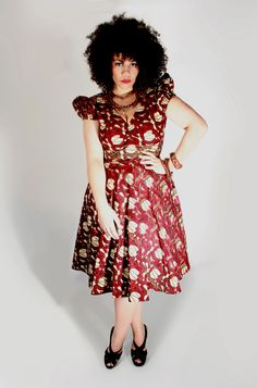 Designer Clothing Plus Size Women Buja Ankara Dress by