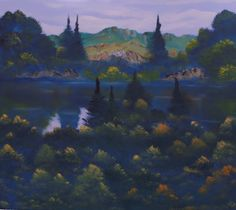 Wyndham Lake, oil on canvas, 90x100cm.