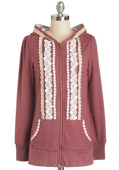 Ever So Soften Hoodie in Berry. Seek refuge from the morning's chill in this soft, heathered raspberry hoodie, and you'll feel just as comfy and cozy as if you were back in bed! #red #modcloth