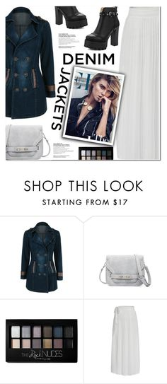 """DENIM JACKET"" by nanawidia ❤ liked on Polyvore featuring Maybelline, Therapy, denimjacket, MiniBag and twinkledeals"