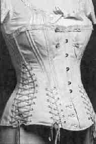 The Victorian maternity corset for the last trimester: accommodating the growing abdomen, while supporting it.