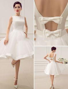 BATEAU BACKLESS LITTLE WHITE DRESS