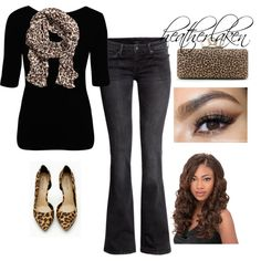 """""""Leopard Accents"""" by heather-laken-michael on Polyvore"""