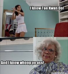 same scene: Did you do this? this is vera wang! Madea: Who dat is? she do nails? i need to get my nails did.