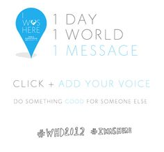 """United Nations- World Humanitarian Day """"I Was Here campaign poster"""