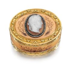 Fabergé jewelled gold, enamel and agate box, workmaster Michael Perchin, St Petersburg, 1895-1899