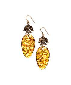 Amber & Bronze Drop Earrings #zulily #zulilyfinds
