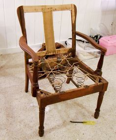How To Upholster A Chair Part 1