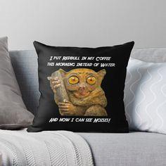 Ein tierisch witziges Design für jung und alt von Aliastueni | Redbubble My Coffee, Alter, Throw Pillows, Design, Getting Up Early, Guys, Cushions, My Coffee Shop, Decorative Pillows