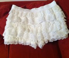 CHIC.CLASSY.CHEAP: DIY Tutorial: Tiered Lace Shorts from Mens Boxers