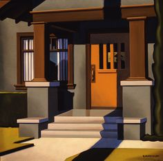 Welcome Home - Kenton Nelson Grant Wood, The New Yorker, Light Painting, Painting & Drawing, American Scene Painting, Industrial Paintings, Edward Hopper, Realism Art, Paintings