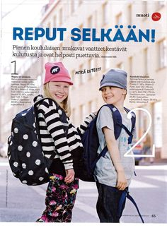 As seen in Meidän Perhe magazine..SUPERYELLOW JUNIOR Beanies available online at shop.superyellow.fi