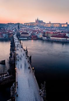 "contra-band: "" Is that Prague? I'm fairly certain it's Prague. "" Judging by the way looking at this picture made my breath catch I'm going to say: yes, that is Prague. Places Around The World, Oh The Places You'll Go, Places To Travel, Travel Destinations, Places To Visit, Around The Worlds, Vacation Travel, Vacation Ideas, Pont Charles"