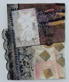 A Mixed Media Journal:  Clare Murray Adams: Sewing Paper