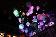 Visioning Space: Videoinstallation mit Ballons von Daniela Faber - Kronach leuchtet 2017