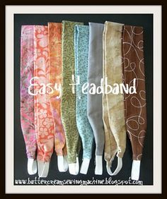 Easy headband tutorial - great use for scraps!   # Pinterest++ for iPad #