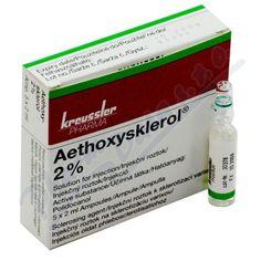 Aethoxysklerol 2% inj.5x2ml (Sklerotizujúce liečivá na lokálne injekcie C05BB02Polidokanol)