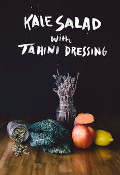 Kale Salad with Tahini Dressing  |  The Fresh Exchange