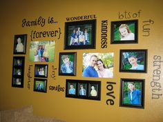 Family wall with a fun quote or words that describe you.