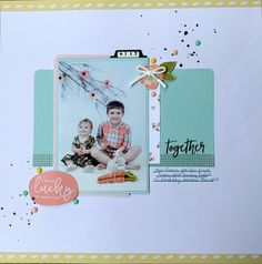 A sweet brother and sister layout using the Felicity Jane Caroline kit