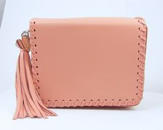 Small Pink Handbag Pink Purse with Tassel by 1141Memories on Etsy