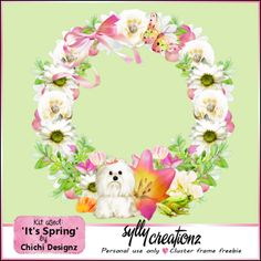 sylly creationz: New Cluster Frame - It's Spring