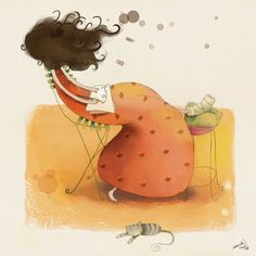Marta Chicote: drawing girl illustration