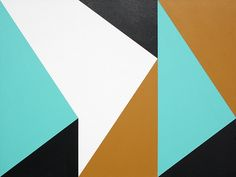 Hard-edge geometric abstract painting number 161. Acrylic on board. May 28 2015