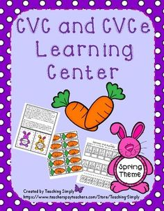 Need a quick CVCe center?  Here's a spring themed bunnies and carrots full color sort your students will love!