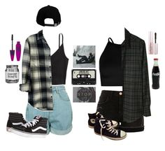 """""""This is what makes us girls"""" by prttylilgirl ❤ liked on Polyvore featuring Brixton, Boohoo, River Island, Rails, Rachel Comey, Vans, Converse, Maybelline, Too Faced Cosmetics and lanadelrey"""
