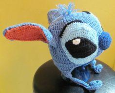 lilo and stitch knitting pattern | Stitch puppy hat blue Lilo and Stitch FANART earflap hat made to order ...