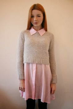 Cropped sweater and long blouse | Hannah Louise Fashion - UK Fashion Blog