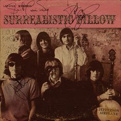 Paul Kantner, Jorma Kaukonen, Jack Casady - The Jefferson Airplane - signed album cover from our collection