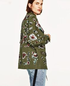 Zara United Kingdom, Zara United States, Outerwear Women, Zara Women, New Outfits, Coats For Women, Parka, Denim, Camouflage Outfit