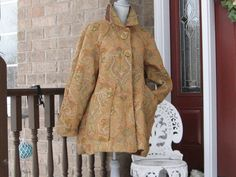 Tapestry cotton chenille swing coat by DATChameleon on Etsy Victorian Coat, Swing Coats, Fur Coat, Tapestry, Retro, Cotton, Jackets, Stuff To Buy, Vintage